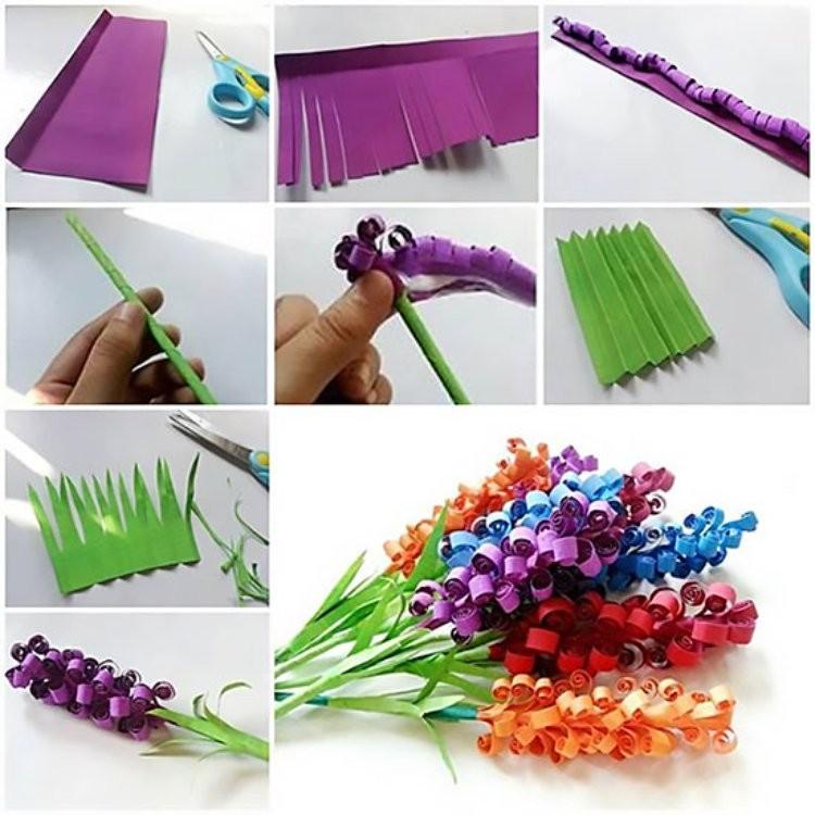 Как сделать гиацинты из бумаги