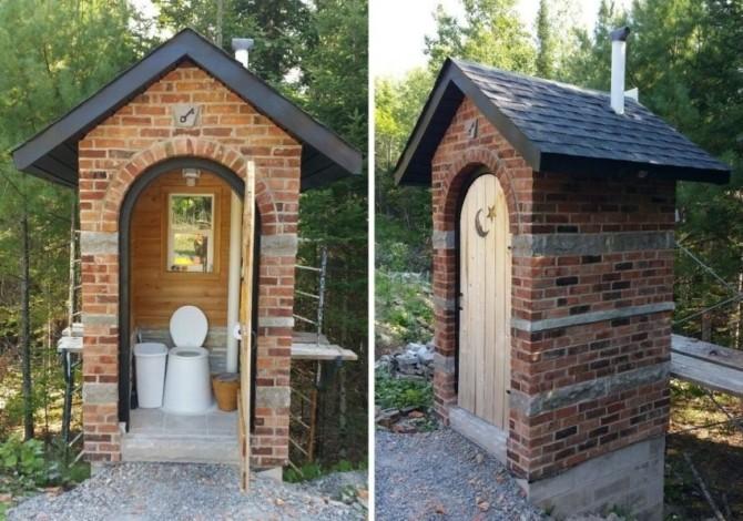 Дачный туалет своими руками фото