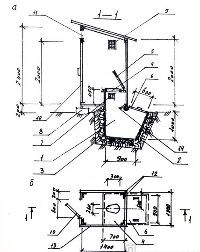 Дачный туалет своими руками чертежи