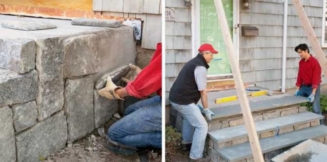 Облицовка бетонного крыльца
