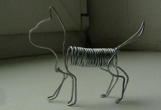 Объемные поделки из алюминиевой проволоки