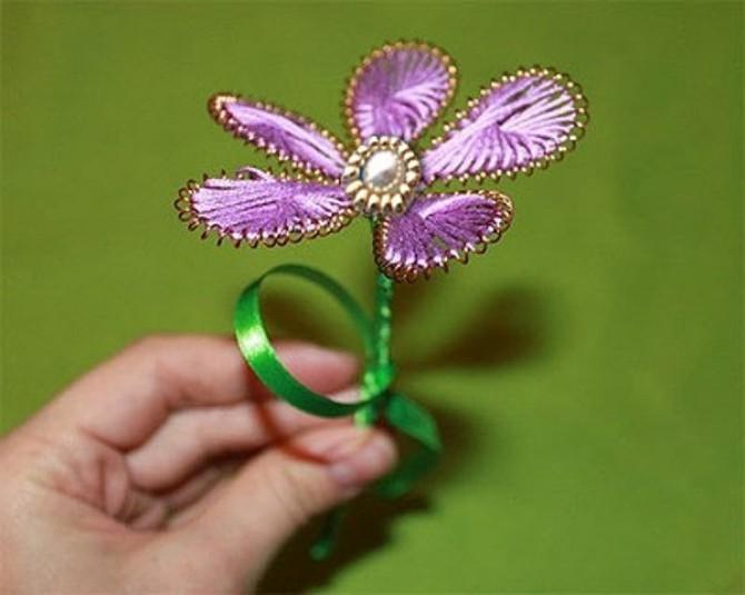Цветы из проволоки и ниток своими руками