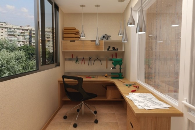 Обустройство мастерской на балконе и лоджии