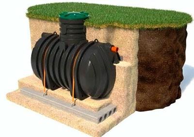 Выгребная яма из пластикового резервуара