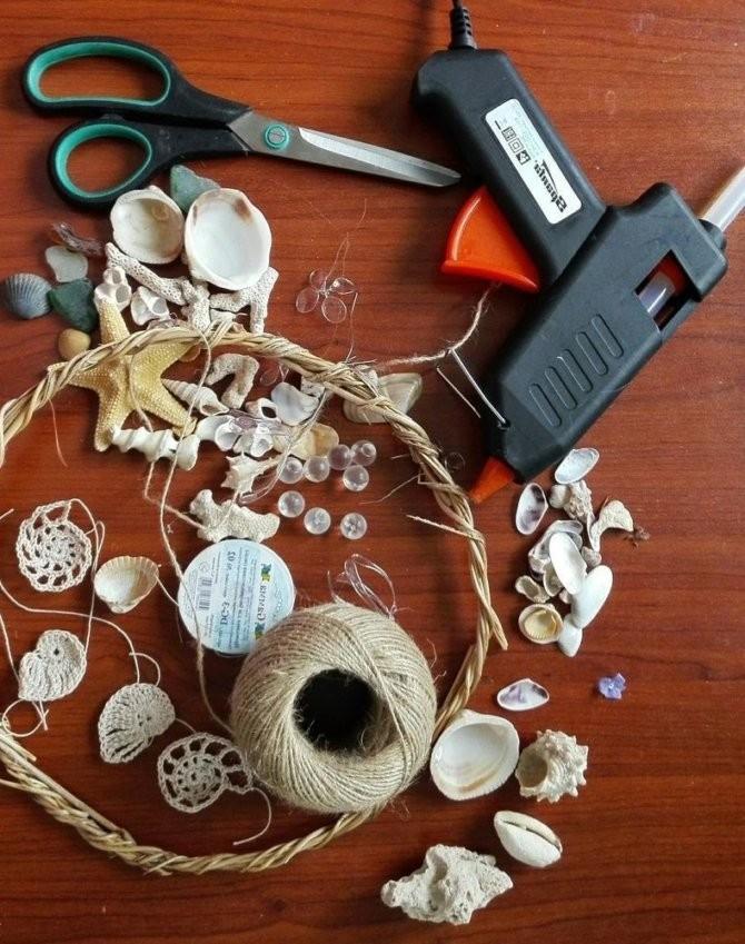 Поделки из ракушек, необходимые инструменты